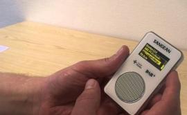 Sangean DPR-36 pocketradio met DAB+ / FM en SD recording, wit