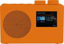 POP RADIO POPdeluxe DAB+/FM radio met kleurenscherm, alarm en 40 presets, oranje
