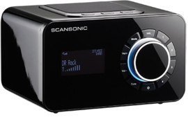 Scansonic R3 DAB+ en FM radio met alarm, zwart