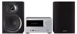 Onkyo CS-375D-SB stereo CD receiver systeem met DAB+, FM, Bluetooth, CD-speler en USB, zilver