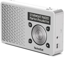TechniSat DigitRadio 1 portable DAB+ en FM radio met  oplaadbare accu, zilver-zilver