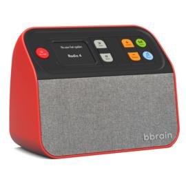 BBrain DAB+ en FM radio met USB muziekspeler, zeer makkelijk te bedienen, rood