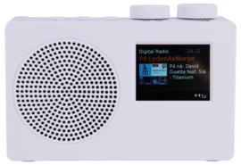 POP RADIO POPdeluxe DAB+/FM radio met kleurenscherm, alarm en 40 presets, wit