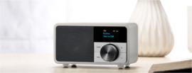 Sangean DDR-7 mini DAB+ en FM radio met Bluetooth ontvangst, glacier silver