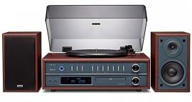Teac LP-P1000 draaitafel muzieksysteem met CD, radio en Bluetooth, kersen