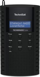 TechniSat TechniRadio Solar portable DAB+ en FM radio met ingebouwde zonnepaneel en oplaadbare accu, zwart