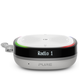 Pure StreamR Splash portable en oplaadbare waterdichte DAB+ en FM radio met Bluetooth, stone grey