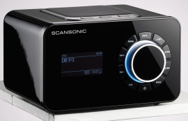 Scansonic R4 S DAB+ en internetradio, zwart
