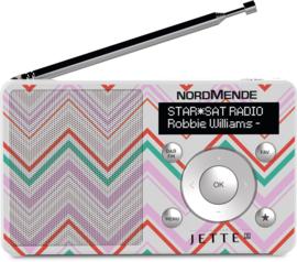 NordMende Transita 100 Jette Joop ZIGZAG portable DAB+ en FM radio met  oplaadbare accu