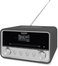 TechniSat DigitRadio 585 stereo internetradio met CD, USB, DAB+ en Bluetooth, antraciet
