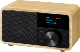 Sangean DDR-7 mini DAB+ en FM radio met Bluetooth ontvangst, Natural Wood