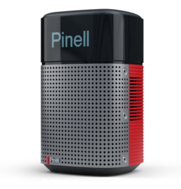 Pinell North oplaadbare stereo DAB+ radio met FM, internetradio, Podcasts, Spotify Connect en Bluetooth, sunset red