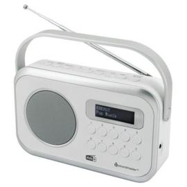 Soundmaster DAB270 WE draagbare radio met DAB+, FM en alarm, wit