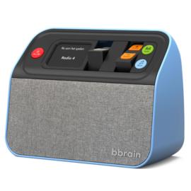 BBrain DAB+ en FM radio met USB muziekspeler, zeer makkelijk te bedienen, blauw