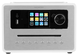 NOXON iRadio 500 CD alles-in-één radio met DAB+, FM en internetradio, USB, Bluetooth en CD, wit