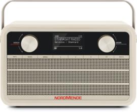 Nordmende Transita 120 IR oplaadbare draagbare internet, DAB+ en FM radio, beige