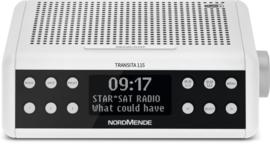 Nordmende Transita 115 DAB+ en FM wekkerradio met OLED scherm, wit