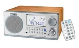Sangean WR-2 (AM / FM radio, Zilver)