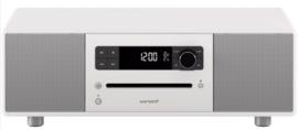 sonoro STEREO 2 SO-320 2.1 stereo muzieksysteem met DAB+ en FM, CD speler, USB en Bluetooth, mat wit