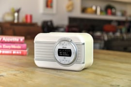 View Quest Christie draagbare DAB+ radio met FM en Bluetooth, Creme