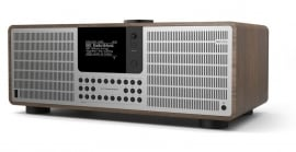 Revo SuperSystem stereo internetradio met Bluetooth, Spotify, USB en DAB+, walnoot-zilver