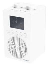 POP RADIO myPOP DAB+/FM radio met 2 instelbare alarmen, analoge ingang & uitgang én eierwekker-functie, wit