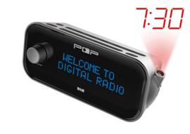 POP RADIO POPProjection DAB+ en FM digitale wekkerradio met projectie, OPEN DOOS