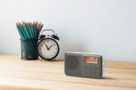 Sangean Pocket 640 (DPR-64) oplaadbare zakradio met DAB+ en FM, grijs-zwart