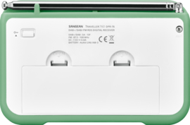 Sangean TRAVELLER 760  ( DPR-76 ) DAB+ draagbare radio met FM, groen