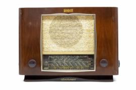 A.bsolument Nr. 804 - Echte Vintage Jaren 40 Radio met Bluetooth en audio ingang