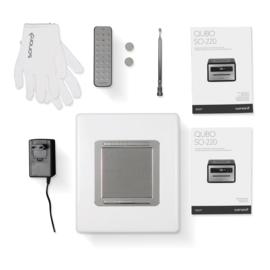 Sonoro Qubo muzieksysteem met DAB+, FM, CD en Bluetooth, zilver