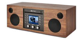 Como Audio Musica hifi stereo alles-in-1 radio met wifi internet, DAB+, CD, Spotify en Multi room, Walnut