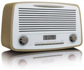 Lenco DAR-012 Stereo retro DAB+ en FM radio met Bluetooth, alarm en presets, taupe