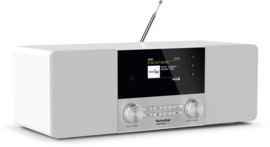 TechniSat DigitRadio 4C stereo tafelradio met DAB+ digital radio, FM en Bluetooth, wit