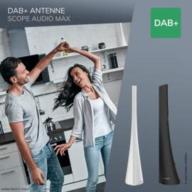 Oehlbach Scope Audio Max DAB+ antenne, zwart