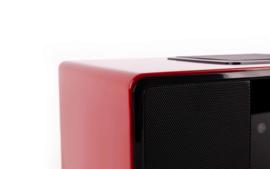 Block SR-50 Smartradio all-in-one stereo 2.1 radio met CD, internetradio, DAB+, Spotify, USB en Bluetooth, hoogglans rood
