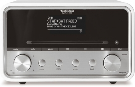 TechniSat DigitRadio 580 stereo internetradio met CD, USB, DAB+ en Bluetooth, wit