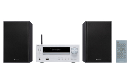 Pioneer X-HM36D stereo HiFi systeem met CD, DAB, FM, streaming internetradio, Spotify Connect en Bluetooth, zilver