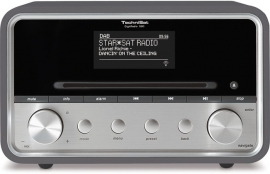 TechniSat DigitRadio 580 stereo internetradio met CD, USB, DAB+ en Bluetooth, antraciet