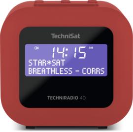 TechniSat Techniradio 40 wekker radio met DAB+ en FM, rood