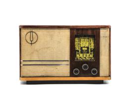 A.bsolument Nr. 708 - Echte Vintage Jaren 50 Radio met Bluetooth en audio ingang