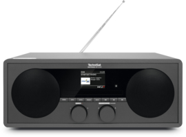 TechniSat DigitRadio 451 CD IR stereo houten wifi internetradio met CD, DAB+ en FM, antraciet, OPEN DOOS