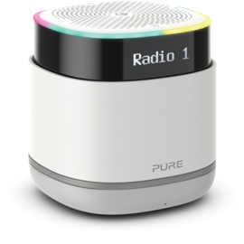 Pure StreamR draagbare Bluetooth Speaker met DAB+ en FM radio, Stone Grey