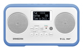 Sangean DPR-77 portable stereo DAB+ en FM radio, blauw