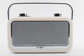 POP RADIO POPvintage DAB+/FM radio met Bluetooth, alarm en 20 instelbare presets, creme