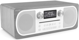 Pure Evoke C-D6 stereo digitale DAB+ radio met CD en Bluetooth, Grey Oak