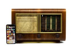A.bsolument Nr. 849 - Echte Vintage Jaren 50 Radio met Bluetooth en audio ingang