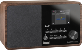 Imperial DABMAN i150 hybride internetradio met DAB+ en FM, walnoot
