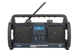 Perfectpro WORKSTATION 2 stereo werkradio met DAB+, FM en Bluetooth