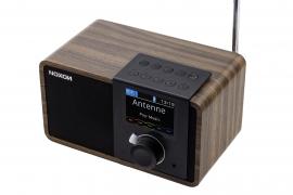 NOXON dRadio 1 DAB+ en FM radio met wekker en accu, walnoot, OPEN DOOS